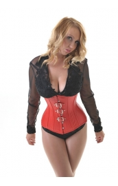 Vixen Red Leather Underbust  Corset***
